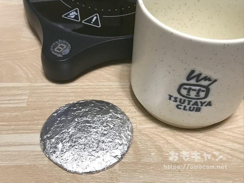 マグカップウォーマーと熱伝導クッキー