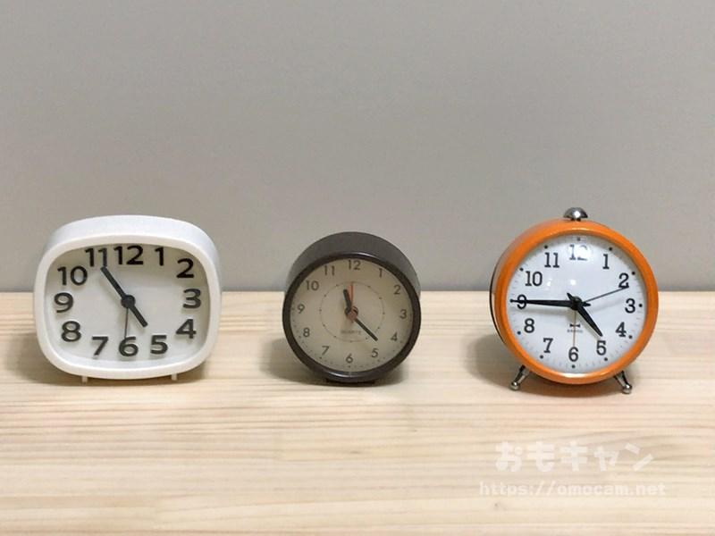ダイソーとキャンドゥとAmazonの置時計