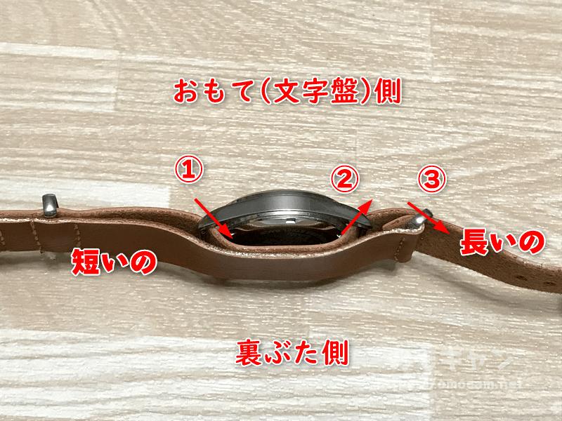 NATO腕時計ベルトの付け方